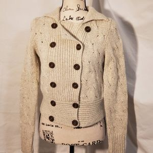 Free People Cream Cable Knit Sweater Size XS